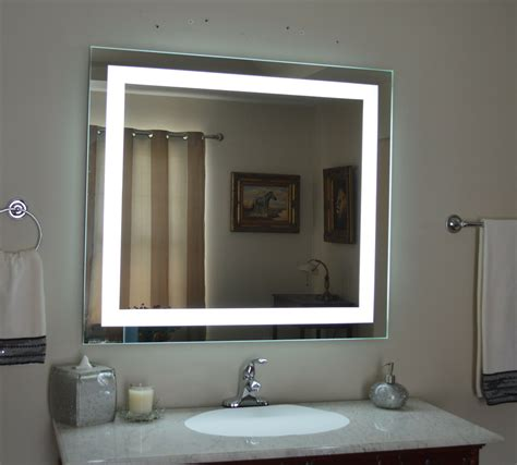 Lights Vanity by Lighted Bathroom Vanity Mirror Led Wall Mounted 48