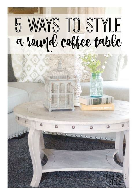 It usually sits in the center and it's the element that unites so how do you choose your coffee table? 5 Ways to Style a Round Coffee Table | Round coffee table diy, Round coffee table, Decorating ...