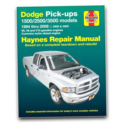 free online car repair manuals download 1994 dodge intrepid instrument cluster haynes repair manual for 1994 2008 dodge ram 1500 shop service garage book ck ebay