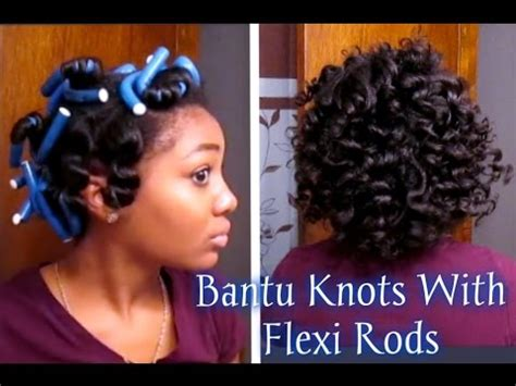 how to style my permed hair get the bantu knots hairstyle using flexi rods 1751