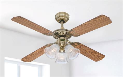 westinghouse outdoor ceiling fan replacement blades 105 cm westinghouse princess trio in antique brass with
