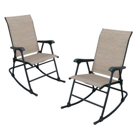 fitzpatrick 2 sling patio folding rocker set i