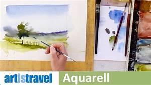 Einfache Bilder Malen : einfache landschaft in aquarell ganz einfach aquarellieren lernen 4 youtube ~ Eleganceandgraceweddings.com Haus und Dekorationen