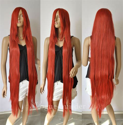 long bang copper red straight cosplay hair wig  ebay