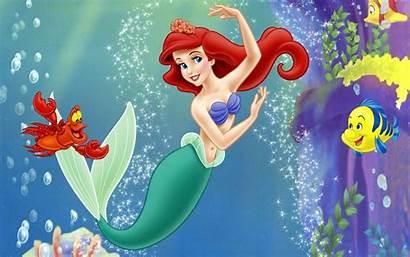 Mermaid Ariel Disney Princess Cartoon Ocean Sea