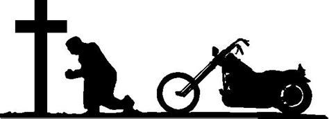 Biker Praying