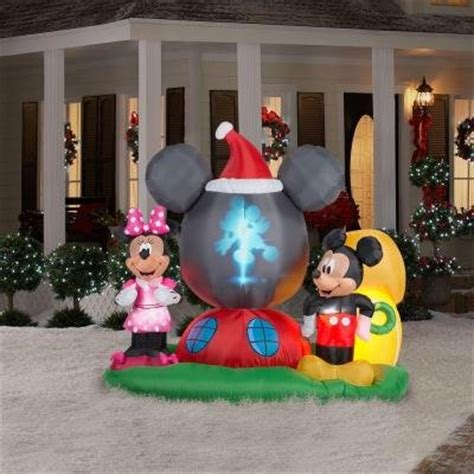 mickey minnie mouse christmas inflatables christmas wikii