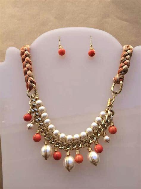 collar perlas  piedras  trenza hilos collares