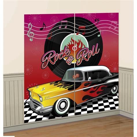 Deko Rock N Roll by 165 X 165 Cm 50er Jahre Wanddeko Folie Rock N Roll Bild