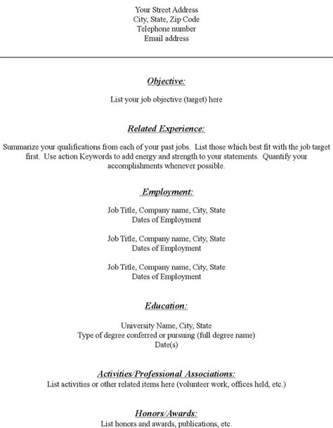 Free Blank Resume Pdf by Blank Resume Templates Free Premium Templates Forms Sles For Jpeg Png Pdf