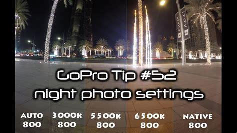 gopro hd tip  night photo mode settings comparison