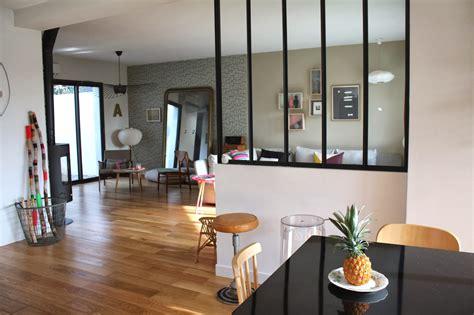 salon de la cuisine mur vitra entre la cuisine et salon inspirations avec