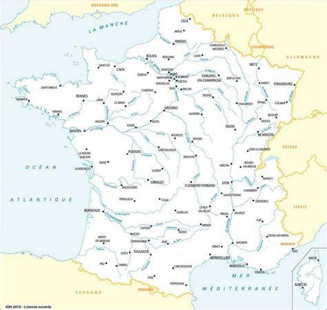 Carte De Des Fleuves Vierge à Imprimer by Vacances Fleuves Arts Et Voyages