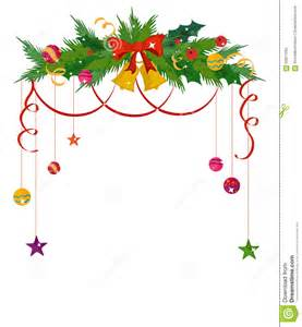new year invitation card merry christmas border and decoration frame stock vector