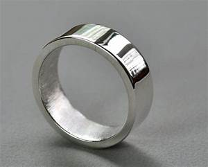 men39s chunky 7mm wedding ring sterling silver high shine With chunky wedding rings
