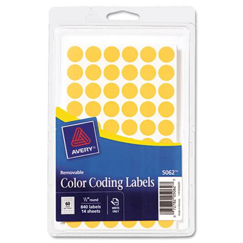 Bettymills Avery® Removable Selfadhesive Round Color