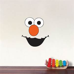 elmo face kids wall decals elmo bedrom sticker mural With cute elmo wall decals