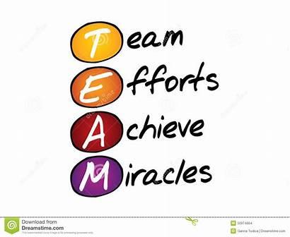 Team Acronym Business Concept Together Illustration Acronymn