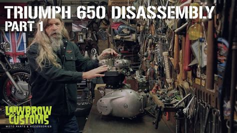 Triumph 650 Motorcycle Engine Disassembly & Rebuild