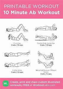 10 Minute Ab Workout  U2013 Illustrated Exercise Plan Created At Workoutlabs Com  U2022 Click For A