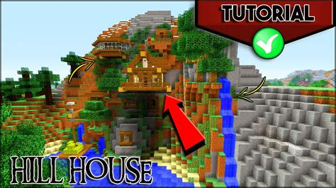 hill house minecraft     cliff house tutorial mountain house ps ps xbox