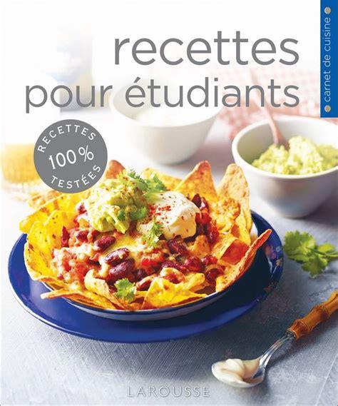 librairie cuisine livre recettes pour étudiants elizabeth nardi larousse