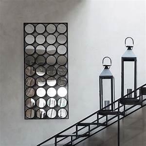 Miroir Metal Noir : miroir en m tal noir h 156 cm geometric maisons du monde ~ Teatrodelosmanantiales.com Idées de Décoration