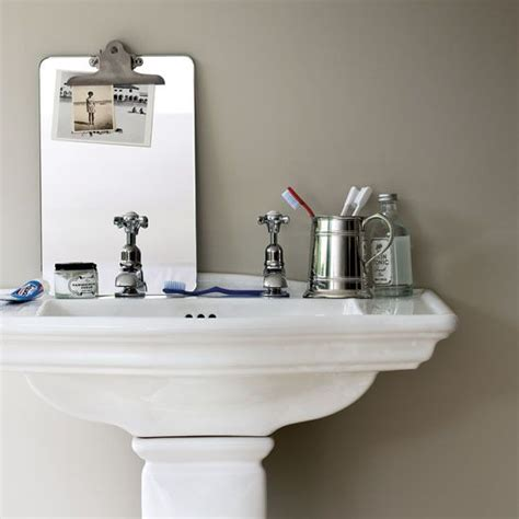 pedestal sink storage casual cottage