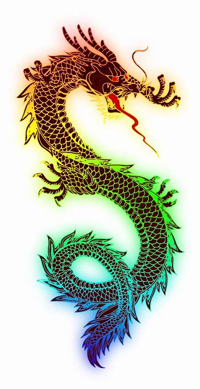 Dragon Chinese Clipart Transparent Clip Library Rainbow