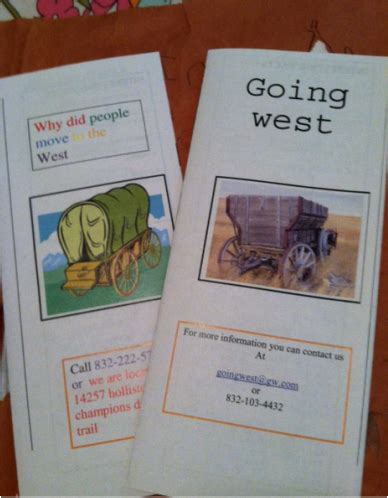 westward expansion brochure project  grade ms