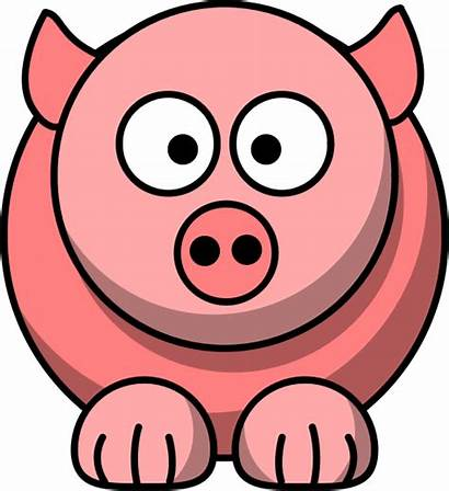 Pig Cartoon Face Clipart Peppa Clip Round