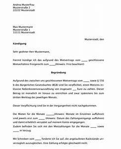 Kündigung Mietvertrag Wegen Eigenbedarf : k ndigung mietvertrag muster muster k ndigung mietvertrag ~ Lizthompson.info Haus und Dekorationen