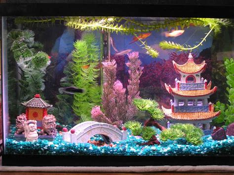 Decoration  How To Create Aquarium Decoration Themes Home