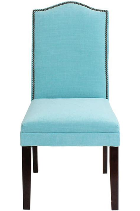 camel back parsons chair with nailhead trim decor by color