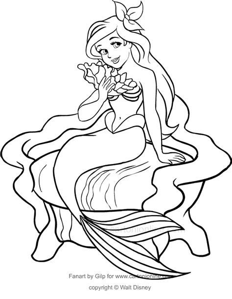disegni da colorare principessa ariel ariel disegni da colorare fredrotgans