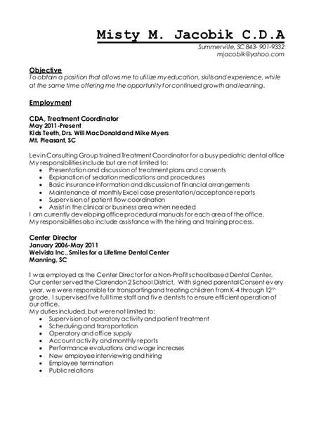 mistym jacobik bulleted resume
