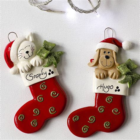 personalised pet christmas decoration  letteroom