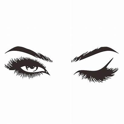 Eyelashes Wallpapers Lashes Lash Backgrounds Wallpaperaccess Sticker