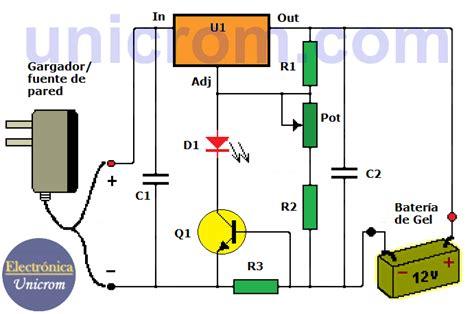 cargador de bateria gel  electronica unicrom
