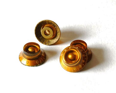 les paul knobs guitarslinger products aged gold bell knobs set 4 fits