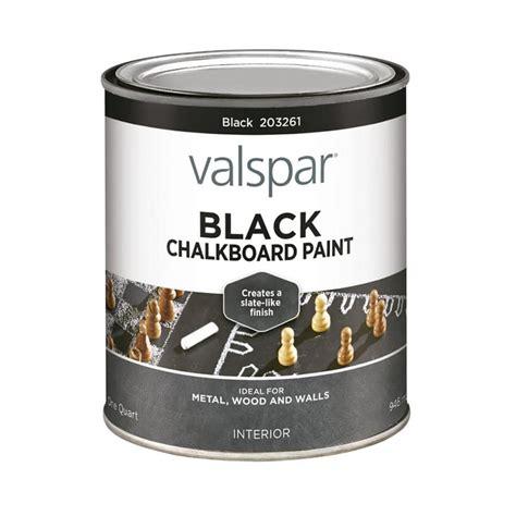 shop valspar quart size container interior matte black latex base paint actual net contents 32