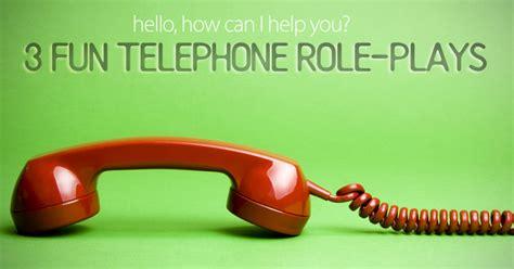 fun telephone role plays