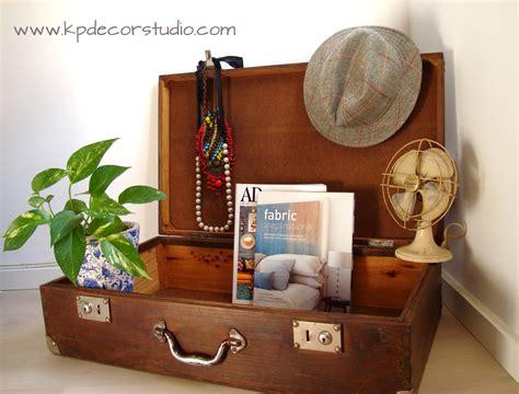 kp decor studio maleta de madera antigua  wooden