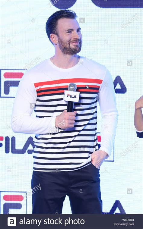 American actor Chris Evans smiles at a promotional event ...