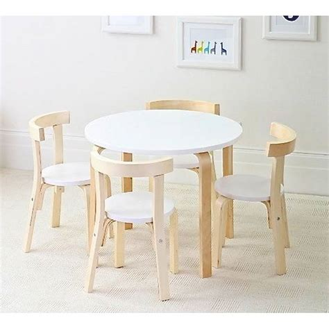 childrens birch wood table 4 chairs set australia hip