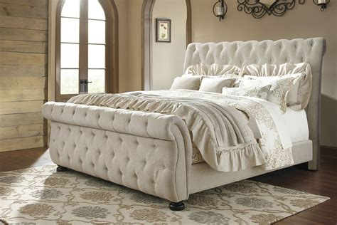 bed for willenburg linen upholstered sleigh bed from