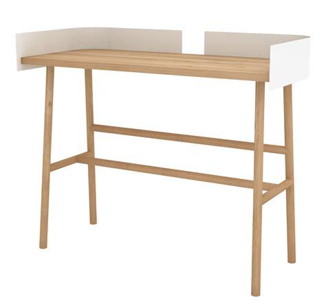 bureau b bureau b desk l 100 bois métal chêne naturel blanc
