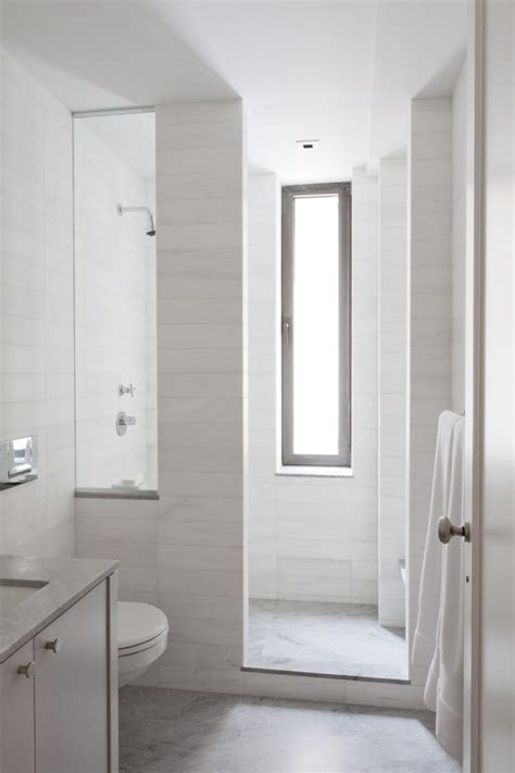 tile shower curb bathroom contemporary with narrow