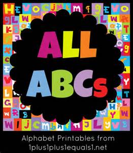 ABC Alphabet Letters Printable
