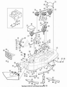 Mtd 13bp605h755  2007  Parts Diagram For Deck Assembly 46 Inch